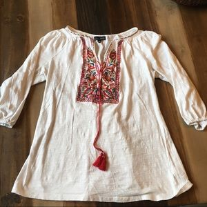 RBX White Top with Red Embroidery Size Small